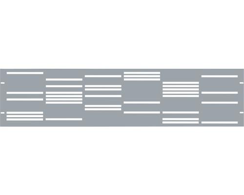 Clôture de jardinet GABIO Stripes 180x45cm gris clair