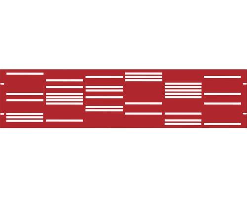 Clôture de jardinet GABIO Stripes 180x45cm rouge rubis