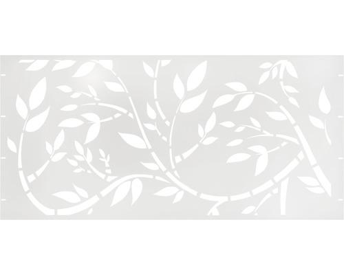 Élément principal GABIO Floral 180x90cm blanc