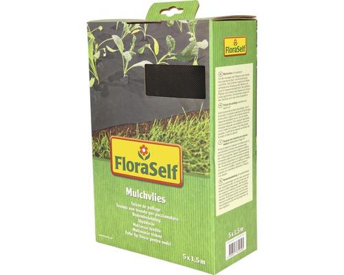 Intissé de paillage FloraSelf 5x1,5m 50g/m² noir