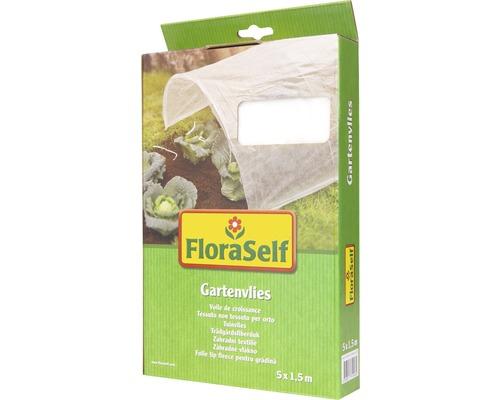 Intissé de jardin FloraSelf 5x1,5m 17g/m² blanc
