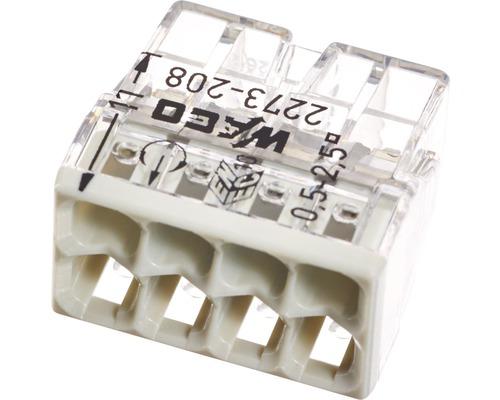 Barrette à bornes Wago 2273-208 Compact 2,5mm² 8conducteurs gris clair 50pièces