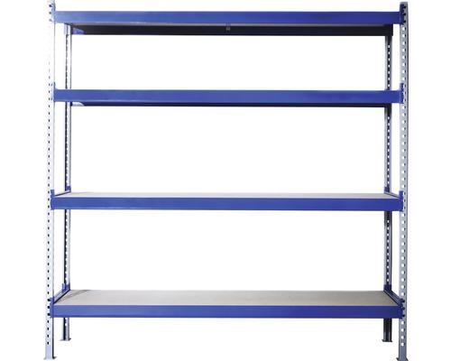 Étagère pour charges lourdes Industrial 1960x2000x600 mm 4 tablettes capacité de charge 1.280 kg