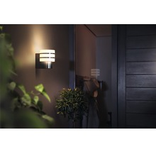 Applique murale LED Philips hue Tuar White Ambiance Outdoor 9,5 W 806 lm 2 700 K blanc chaud acier inoxydable H 185 mm-thumb-1
