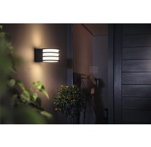 Applique murale LED Philips hue Lucca White Ambiance Outdoor 9,5 W 806 lm 2 700 K blanc chaud anthracite H 215 mm-thumb-3