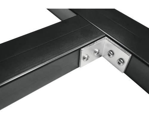 Équerre pour renfort diagonal pour soubassements en aluminium, paquet = 30 pièces avec 120 vis en acier inoxydable A2 3,9x19 mm
