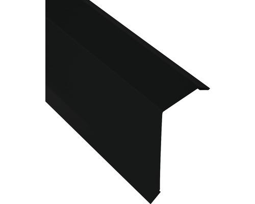 Angle d''arête PRECIT pour tôle trapézoïdale H12 jet black RAL 9005 2000 x 40 x 100 mm (épaisseur du matériau = 0,4 mm)