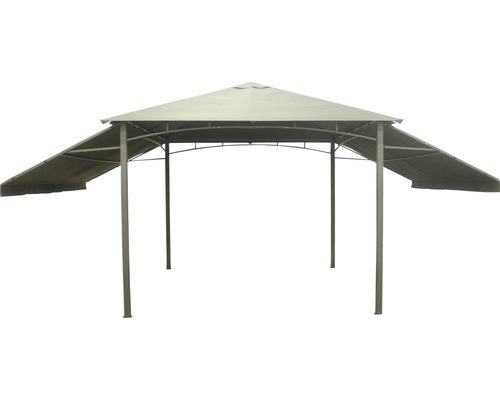 Pavillon avec parties latérales rabattables 3 x 3m en polyester anthracite