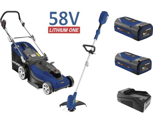Set d'appareils de jardin à batteries HYUNDAI LMGT5801 Li avec 2 accus 2,5Ah et chargeur rapide