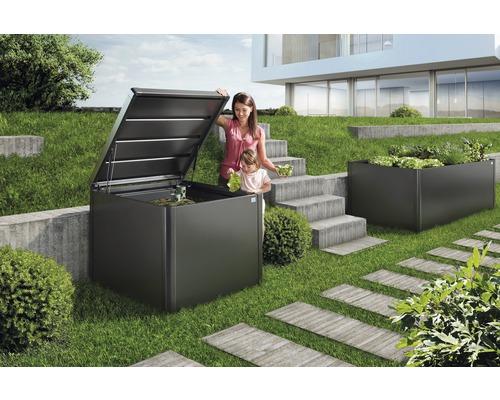 Composteur biohort MonAmi 725l 102x102x86cm gris foncé métallique