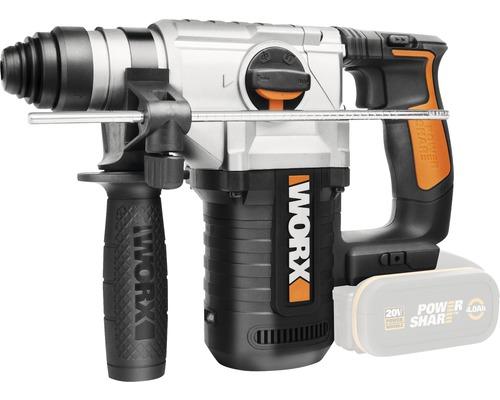 Akku-Bohrhammer Worx WX392.9 20V Li, ohne Akku und Ladegerät inkl. 3 Bohrer