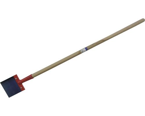 Grattoir à pousser en acier à ressort avec manche 150mm