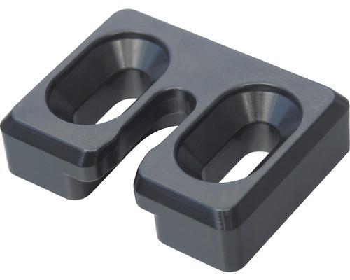 Kit de fixation de clôture pour cadre 36mm 4pièces gris