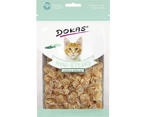 Friandises pour chats DOKAS Mini-Steaks Saumon&Cabillaud40g
