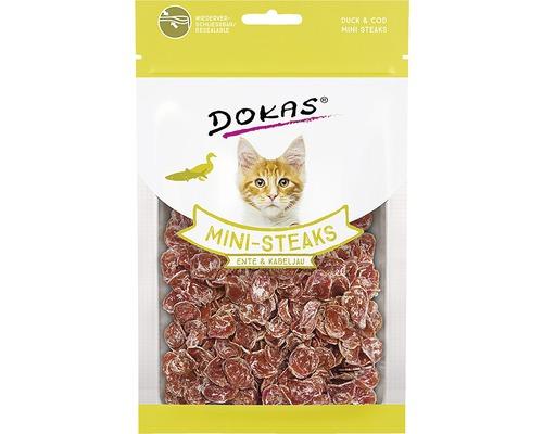Friandises pour chats DOKAS Mini-Steaks Canard&Cabillaud40g