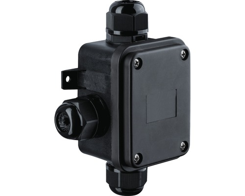 Boîtier de connexion IP68 pour câble de mise à la terre 3pôles noir conçu pour un diamètre de câble 12-15 mm