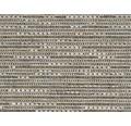 Teppichboden Flachgewebe Outsider African Mambo grau-weiß 400 cm breit (Meterware)