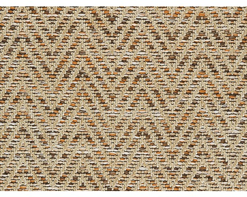 Moquette tissé plat Outsider African Joy caramel-beige à motif largeur 400 cm (au mètre)
