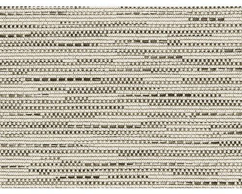 Teppichboden Flachgewebe Outsider African Mambo weiß-anthrazit gemustert 400 cm breit (Meterware)