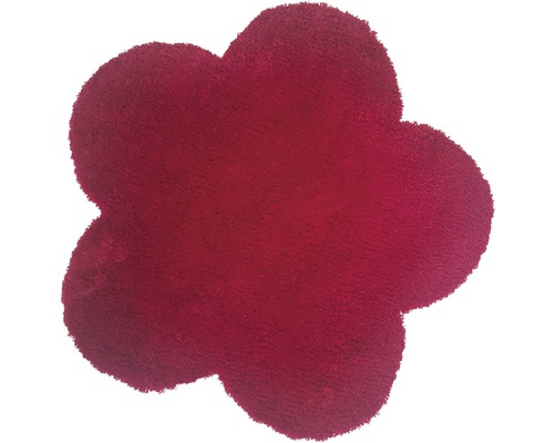 Tapis Fleur rouge 60x60cm