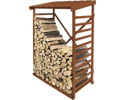 Étagère pour bois de cheminée, marron