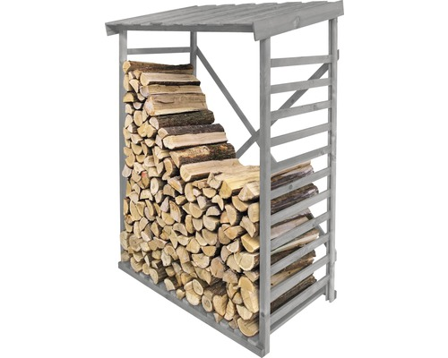 Étagère pour bois de cheminée, gris clair