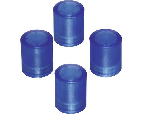 Aimants d''organisation Ø14x17,5mm, bleu transparent, lot de 4