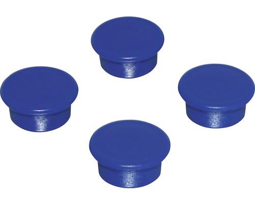 Aimants d''organisation Ø18mm, bleu, lot de 4