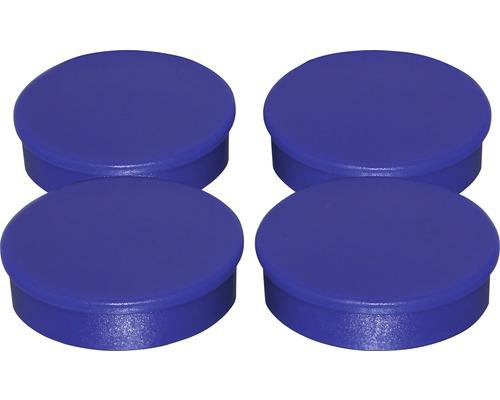Aimants d''organisation Ø30mm, bleu, lot de 4