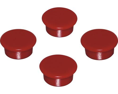 Aimants d''organisation Ø18mm, rouge, lot de 4