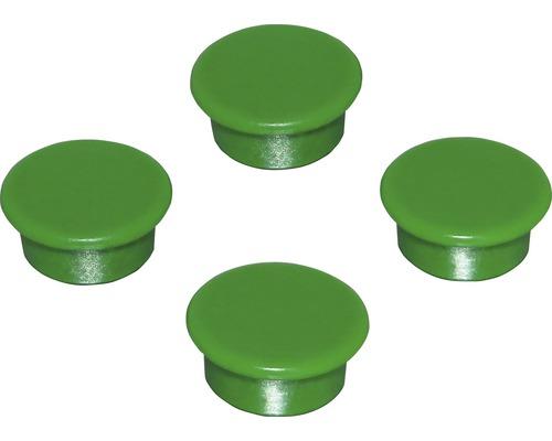 Aimants d''organisation Ø18mm, vert, lot de 4