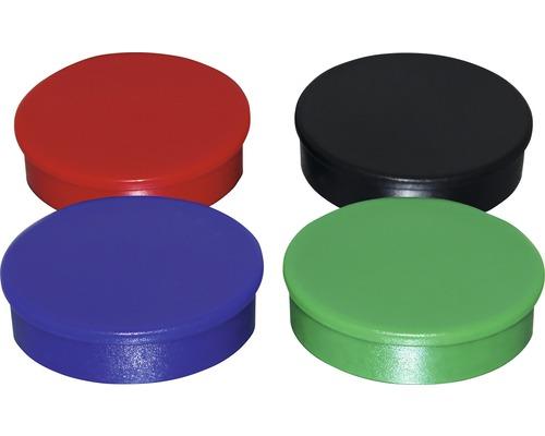 Aimants d''organisation Ø30mm, diverses couleurs, lot de 4