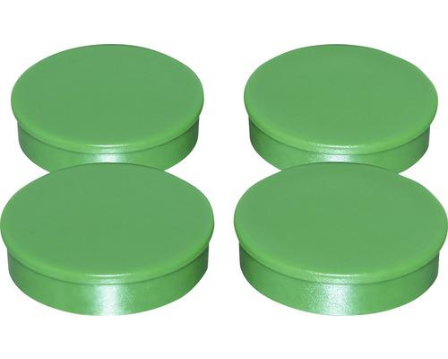 Aimants d''organisation Ø30mm, vert, lot de 4