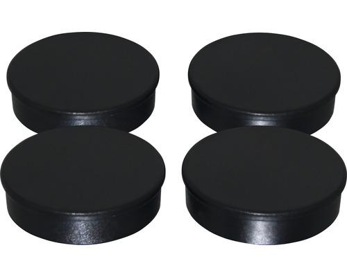 Aimants d''organisation Ø30mm, noir, lot de 4