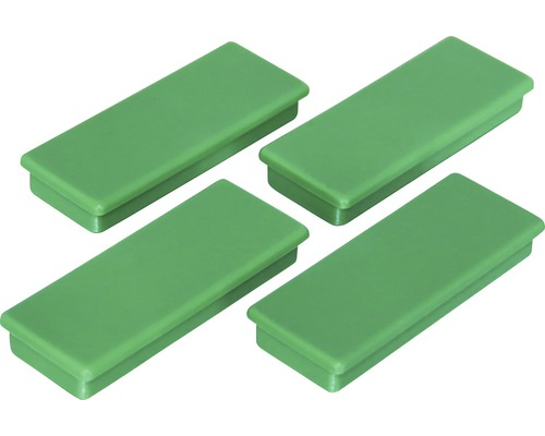 Aimants d''organisation 55x22,5mm, vert, lot de 4
