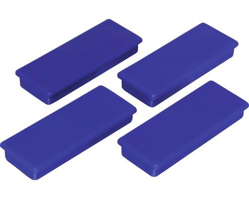 Aimants d''organisation 55x22,5mm, bleu, lot de 4