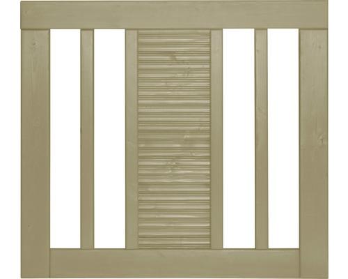 Portail à un vantail Fenris 90 x 90 cm, traité en autoclave par imprégnation