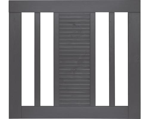 Portail à un vantail Fenris 90 x 90 cm, gris basalte