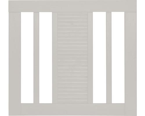 Portail à un vantail Fenris 90 x 90 cm, blanc crème