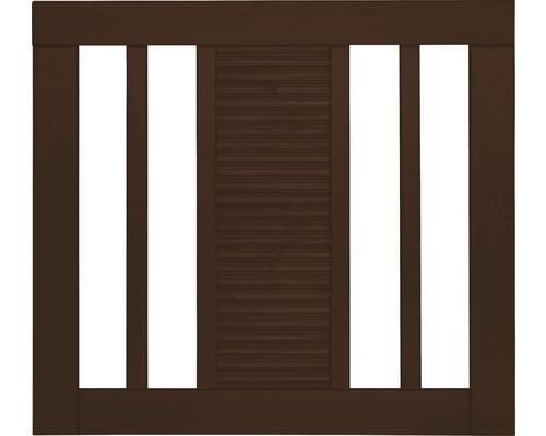 Portail à un vantail Fenris 90 x 90 cm, marron