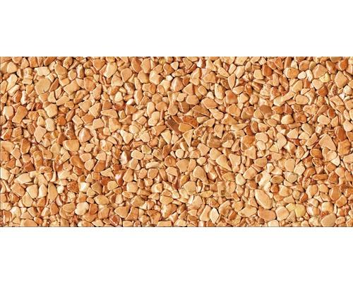Kit de tapis de pierre 1m² Ravello moyen rouge zone intérieure - sol