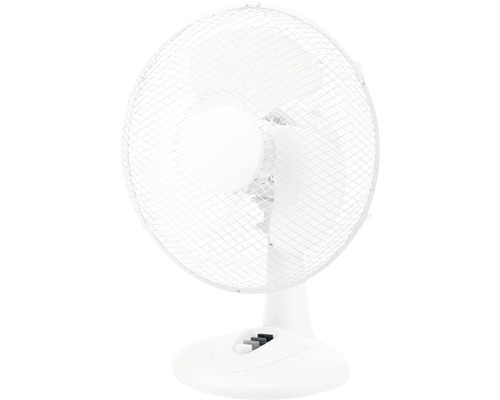 Ventilateur de table Ø 30cm blanc 40W