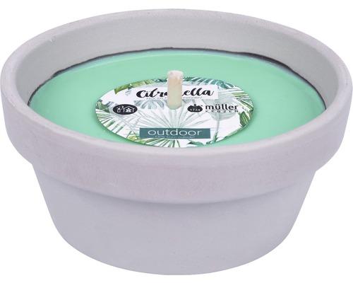 Bougie dans coupe en argile Citronella Ø12cm H5cm vert