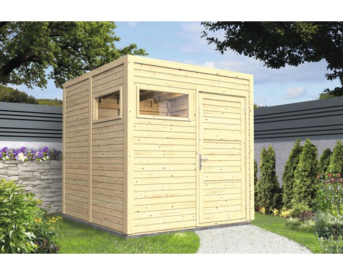 Abri de jardin Cubo 2 avec plancher 226x234 cm naturel