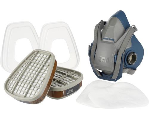 Kit de masques multi-usage pour travaux de pulvérisation de peinture 3M™ 6502QLPRO taille M classe de protection A2P3