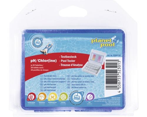 Set de test pH/Chlore + tablettes, 20 unités
