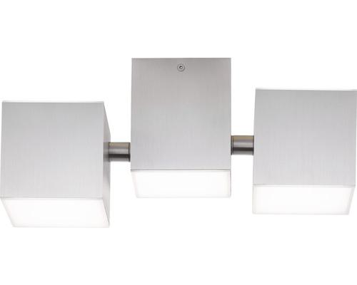Plafonnier à LED AEG IP20 5x3W 300L 3000K blanc chaud hxlxL 120x276x127mm Gillan alu brossé, éléments latéraux pivotants, sortie de lumière à droite + à gauche vers le haut + bas
