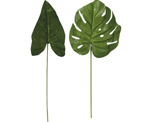 Fleur artificielle philodendron/Calathea H76cm vert assorti
