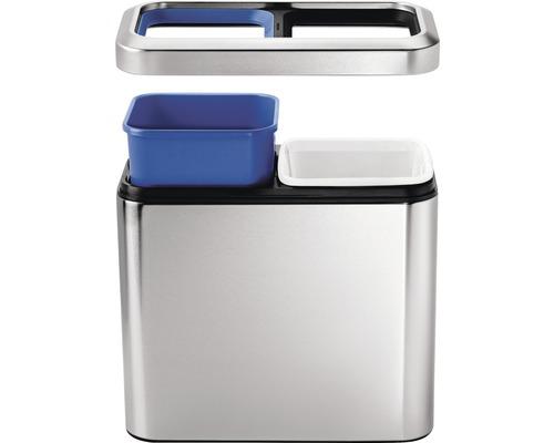 Bac de recyclage Slim Open 2x10 litres