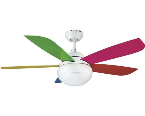 Ventilateur de plafond Madeira Toletum Ø 106cm blanc/multicolore